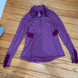 Athletic long sleeve shirt with thumb holes